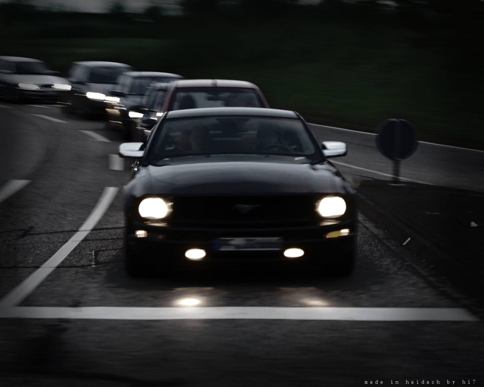Blurred Ford Mustang