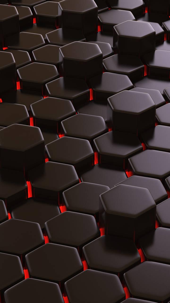 Red Hexagons
