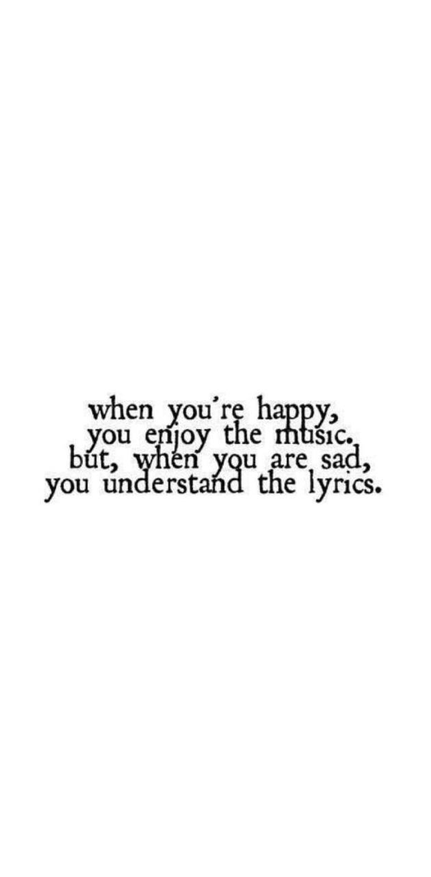 When you are happy