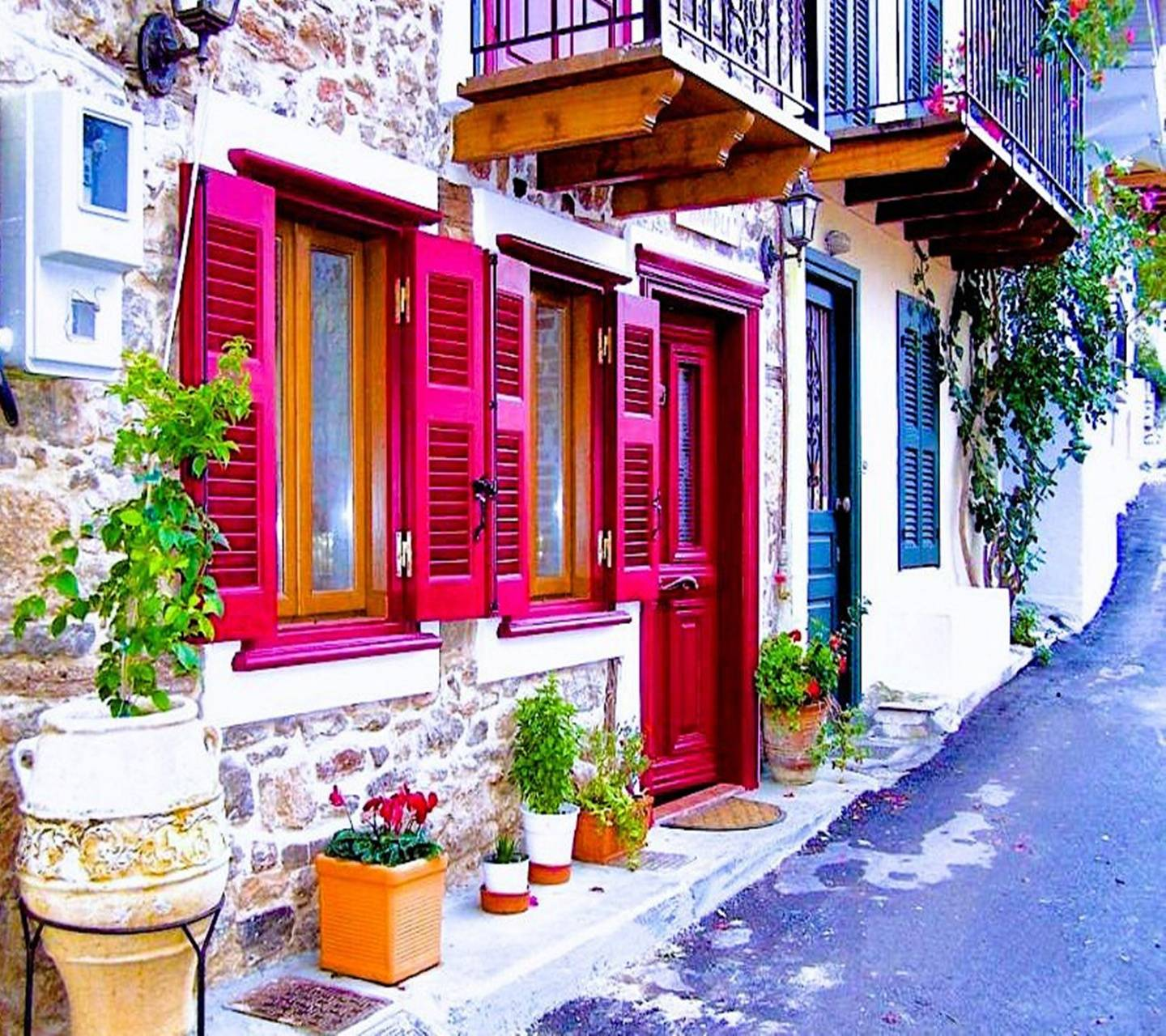 colorful houses wallpaper by