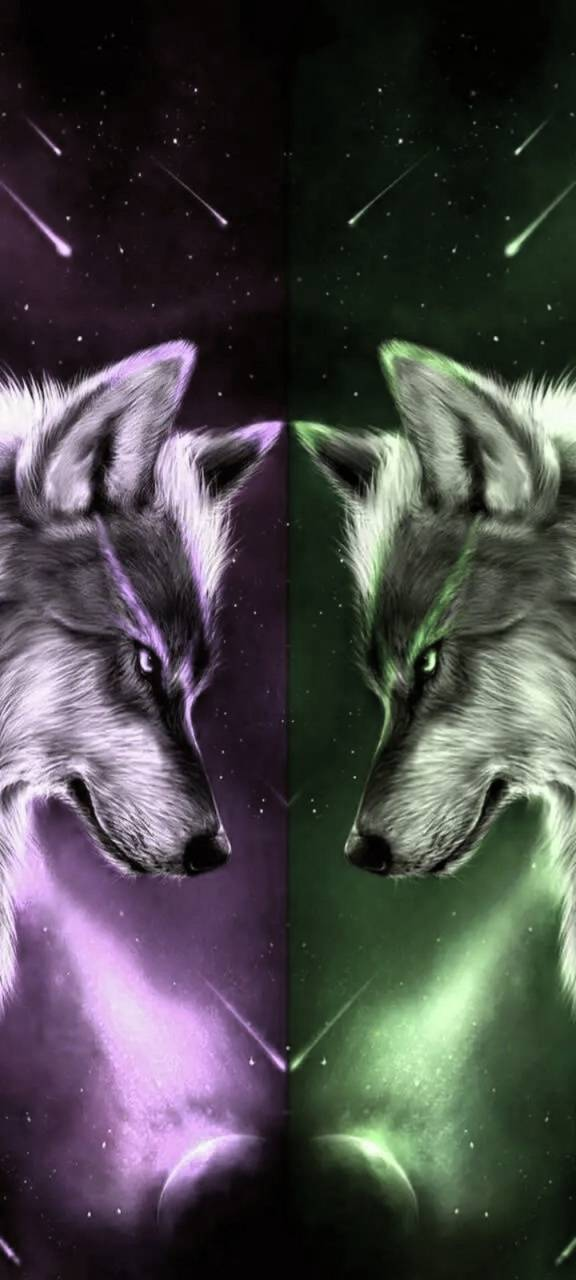 Purple Mint Wolf