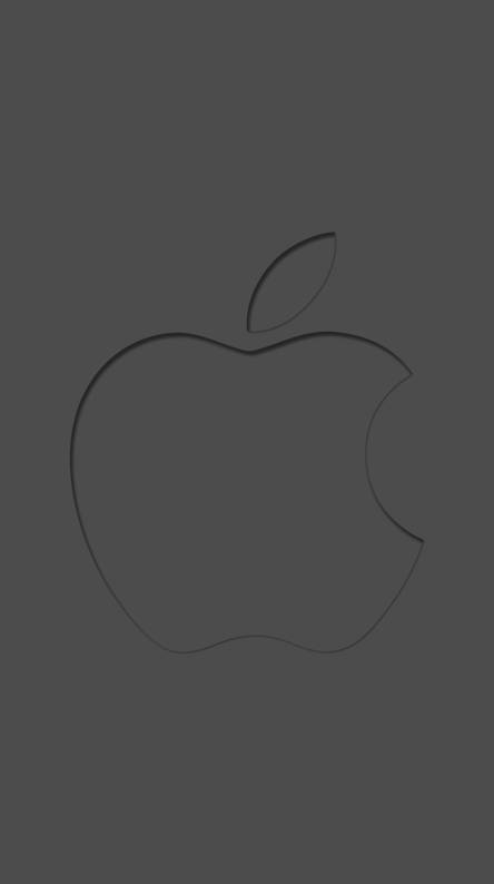 minimal apple logo