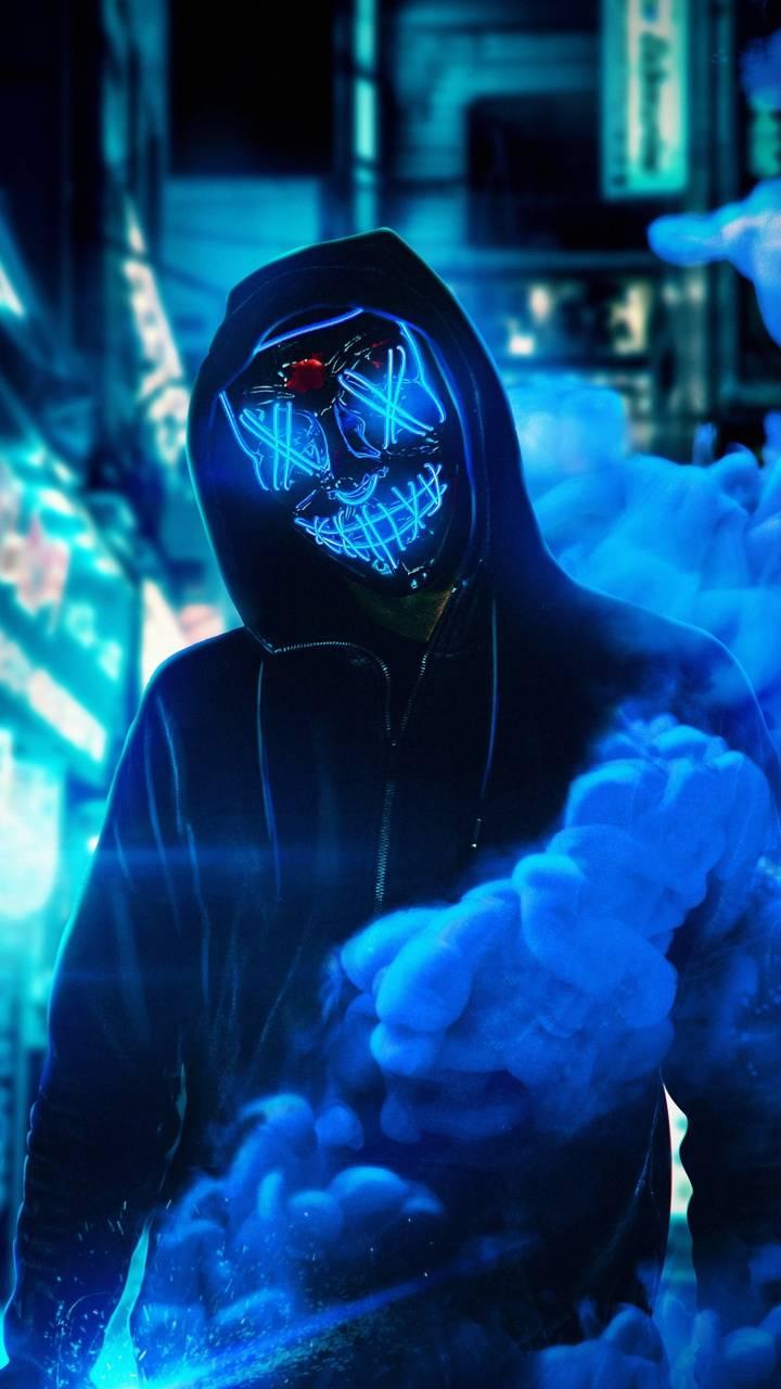 Neon Mask Blue