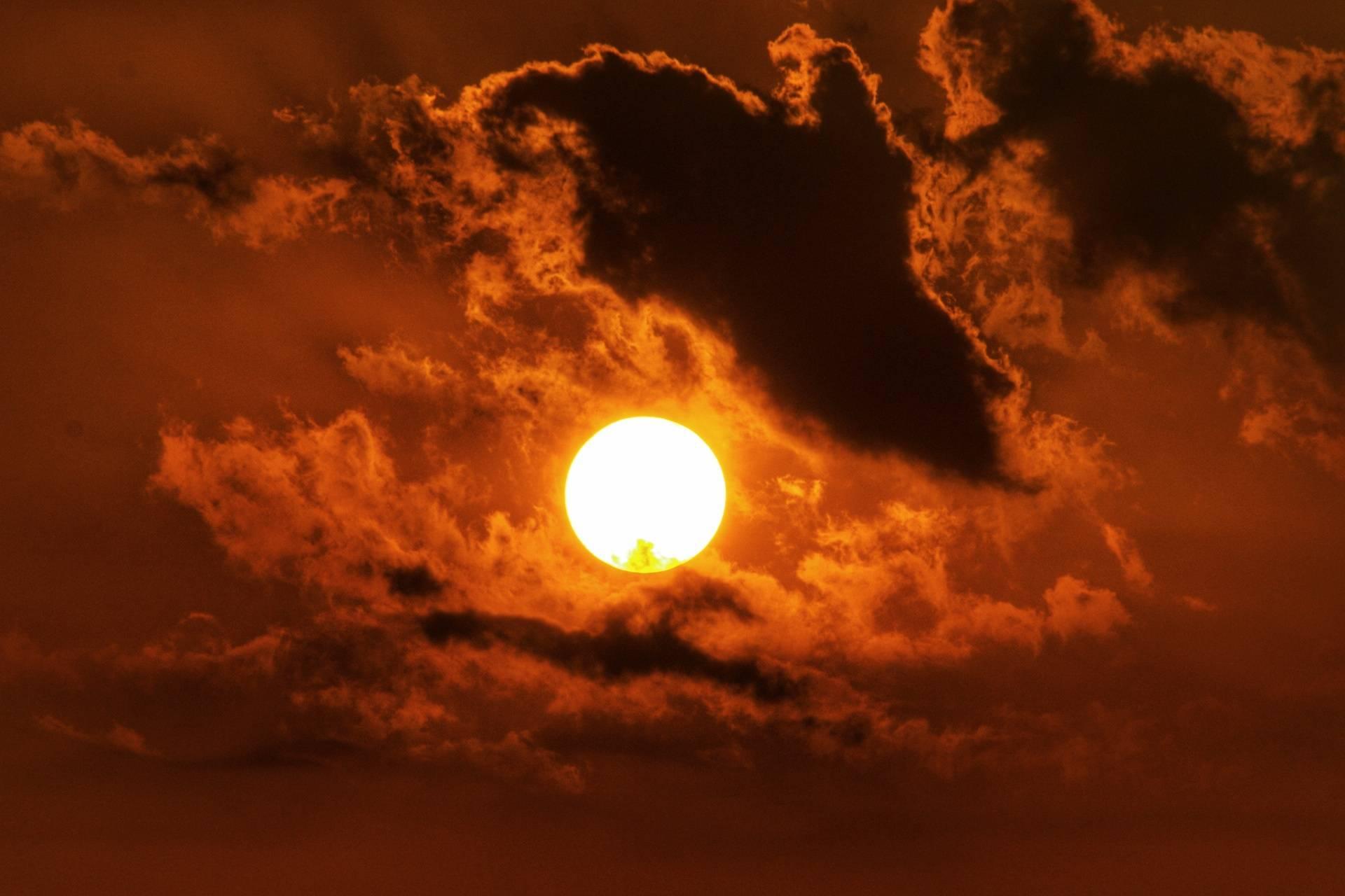 Orange Sun set