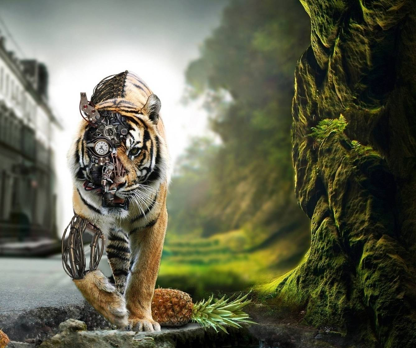 Hd 1600x900 Wallpaper: Mechanical Tiger Wallpaper By Sphinxlars