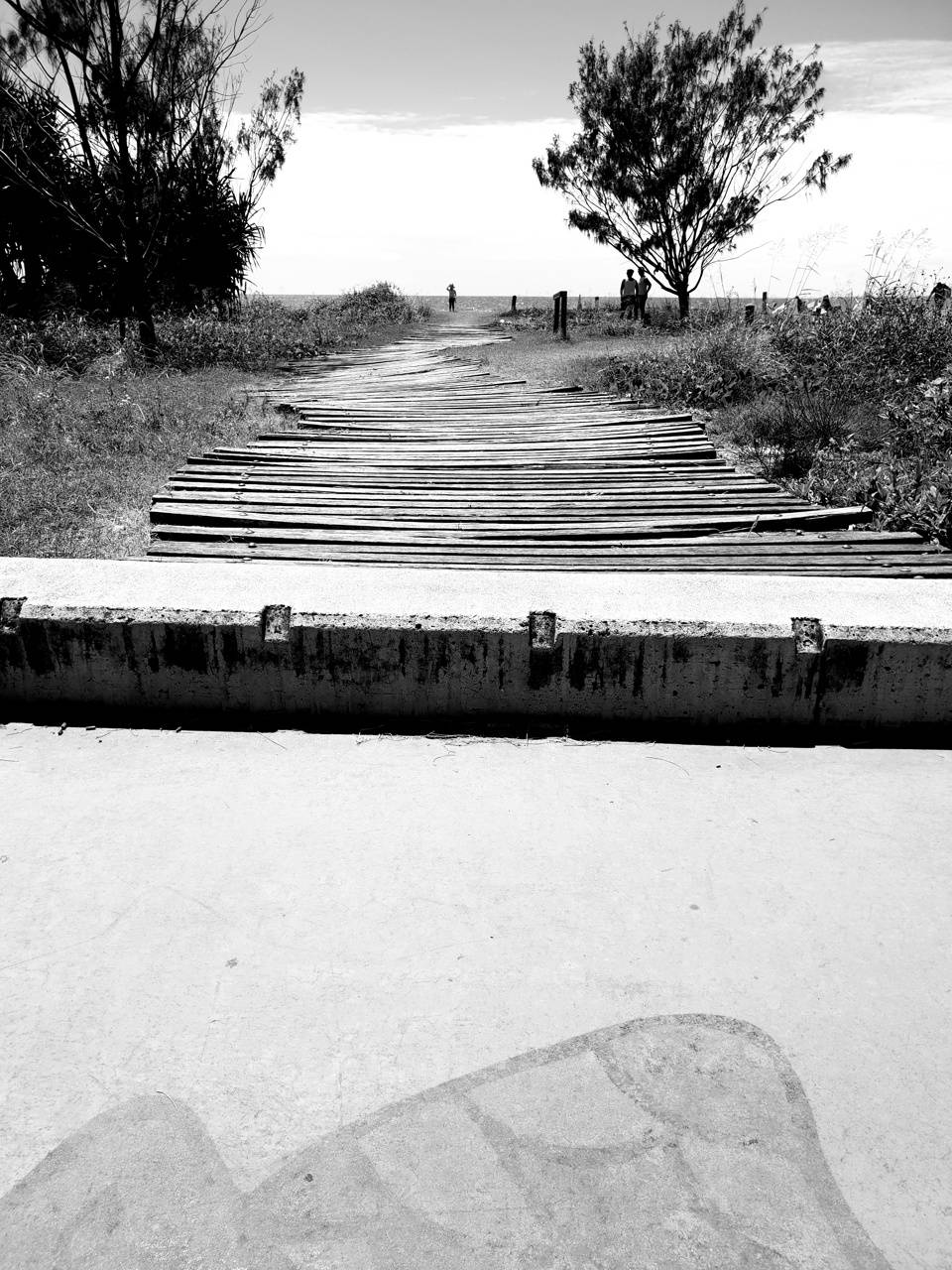 Black and white path