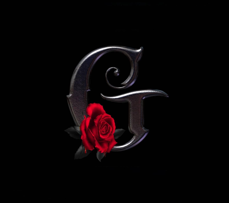 G Letter Rose Wallpaper By KoniG