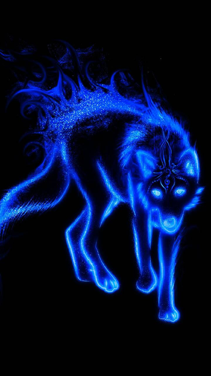Flaming Blue Wolf Wallpaper By Wolfo6000 B0 Free On Zedge