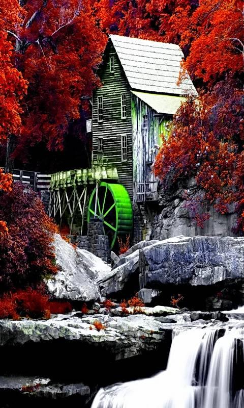 Autumn Watermill