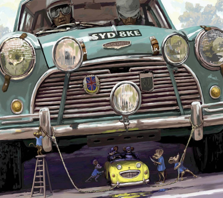 Mice stealing car