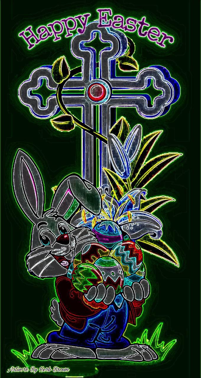 Neon Happy Easter