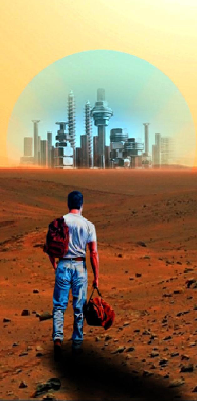 Un homme sur Mars