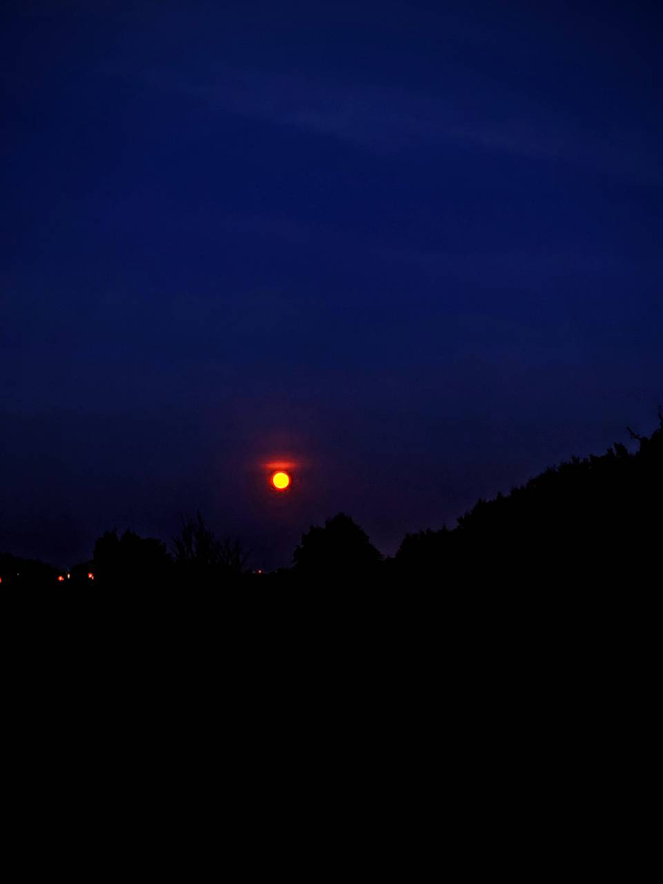 Red summer moon