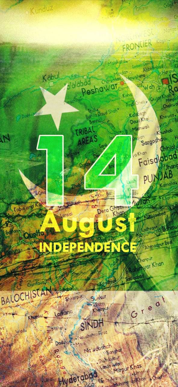 Pakistan flag map