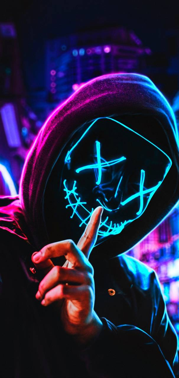 Neon Mask Wallpaper By Themune007 81 Free On Zedge