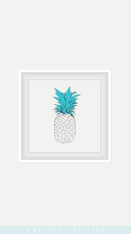 Pineapple Vibes Blue