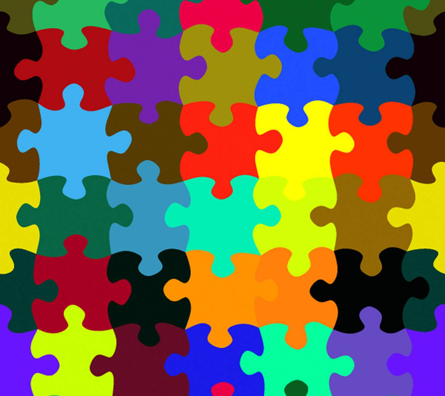 Colorful Jigsaw Wallpaper By Mrs Policeman