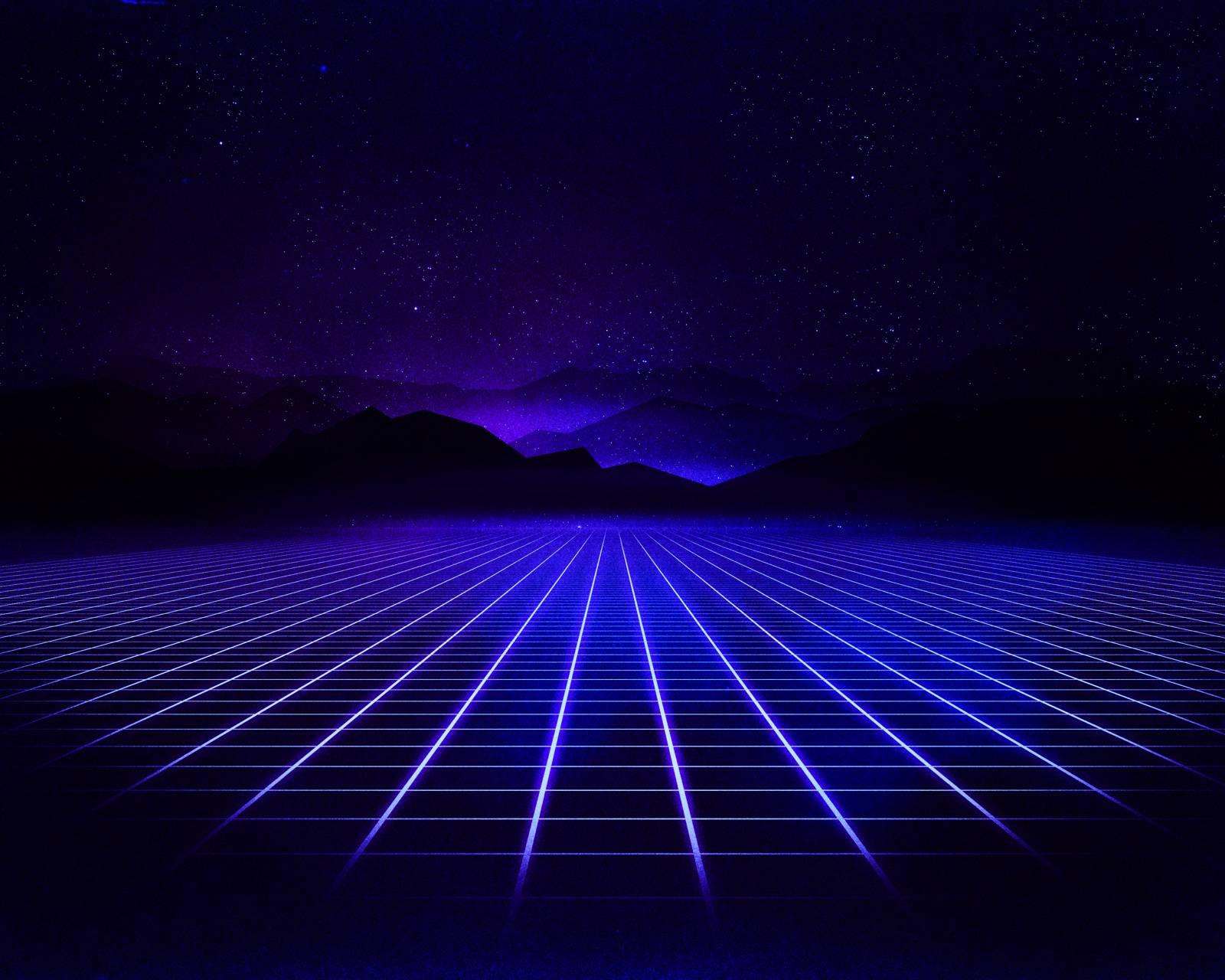 Indigo Neon Grid