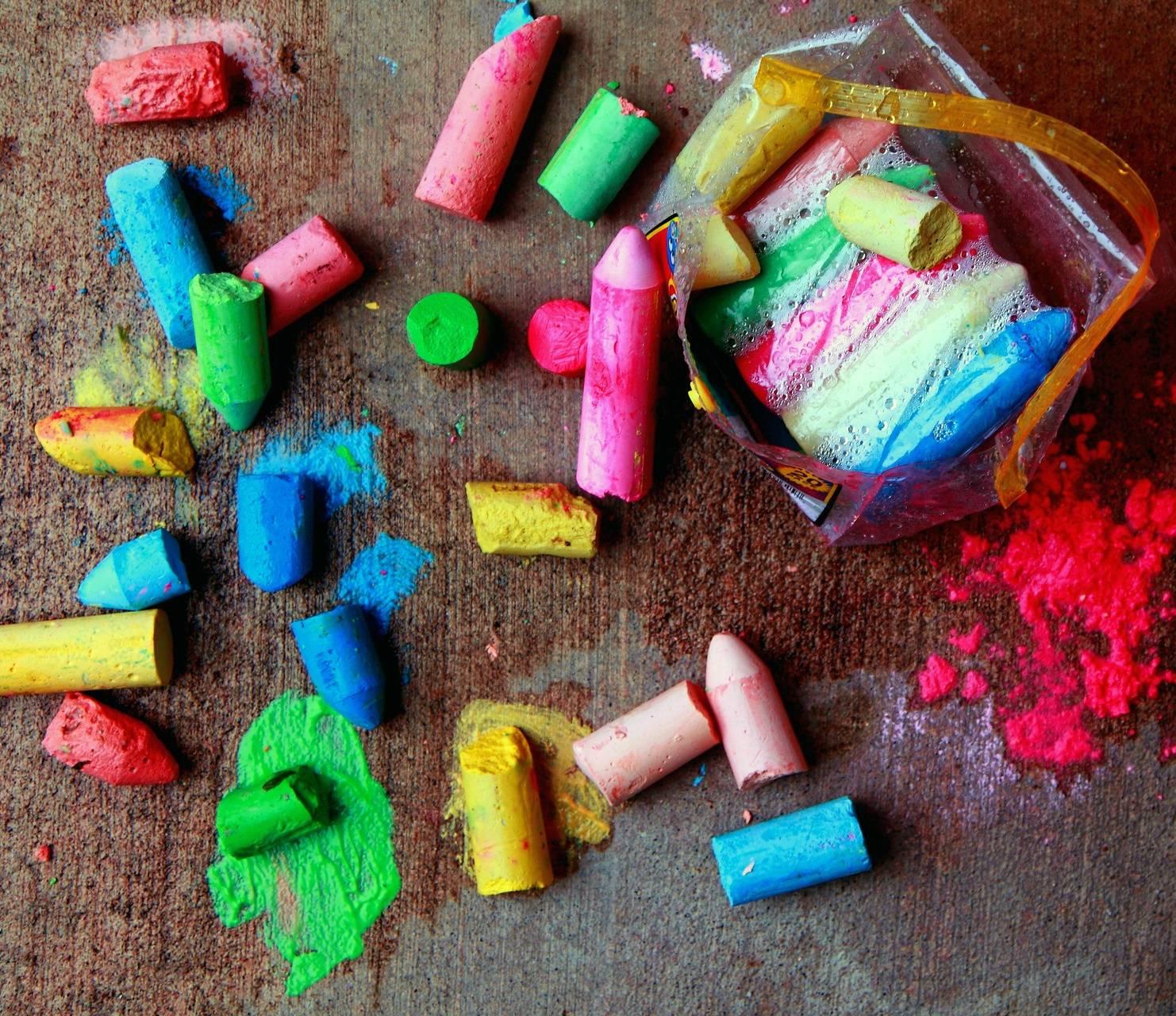 colorfull chalk