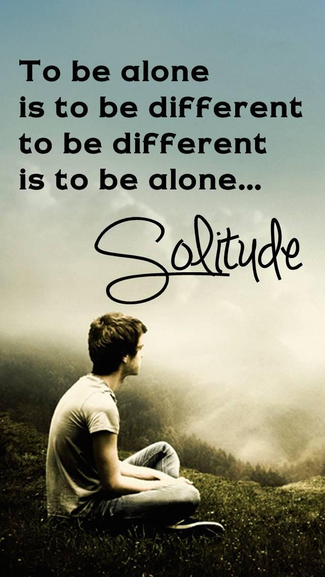 Im Alone Solitude
