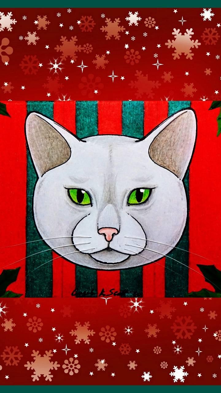Christmas Cat art