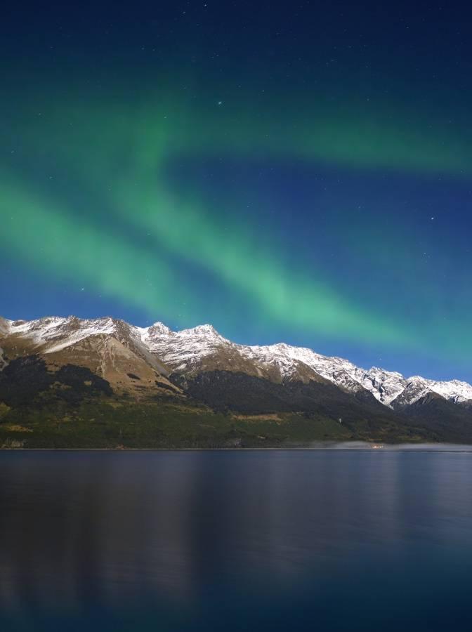 aurora mountains