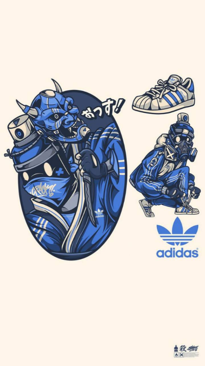 recepción Puede soportar permanecer  Adidas iPad graffiti wallpaper by couna__ - 28 - Free on ZEDGE™