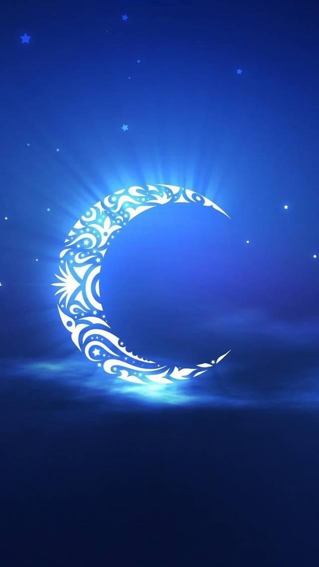 abstract night moon