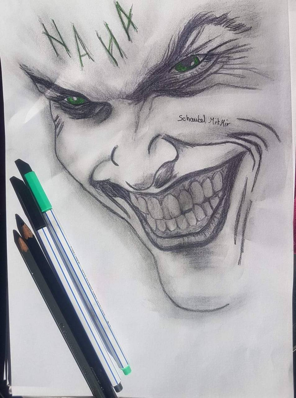 Joker Black White