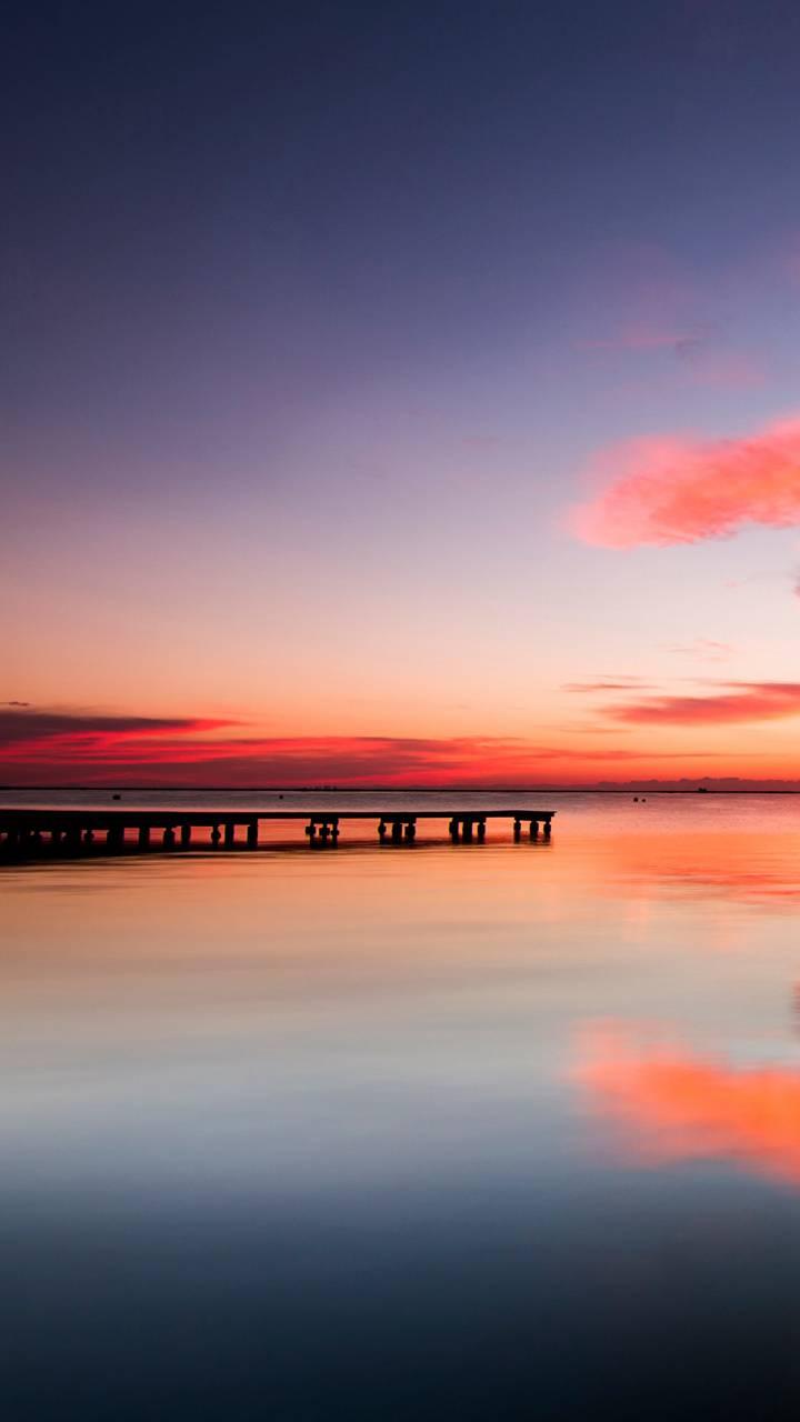 HD Sunset on bridge