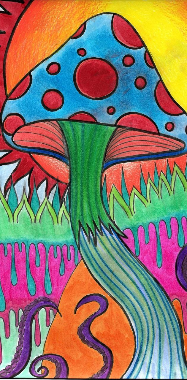 Mushroom Sun Drawing