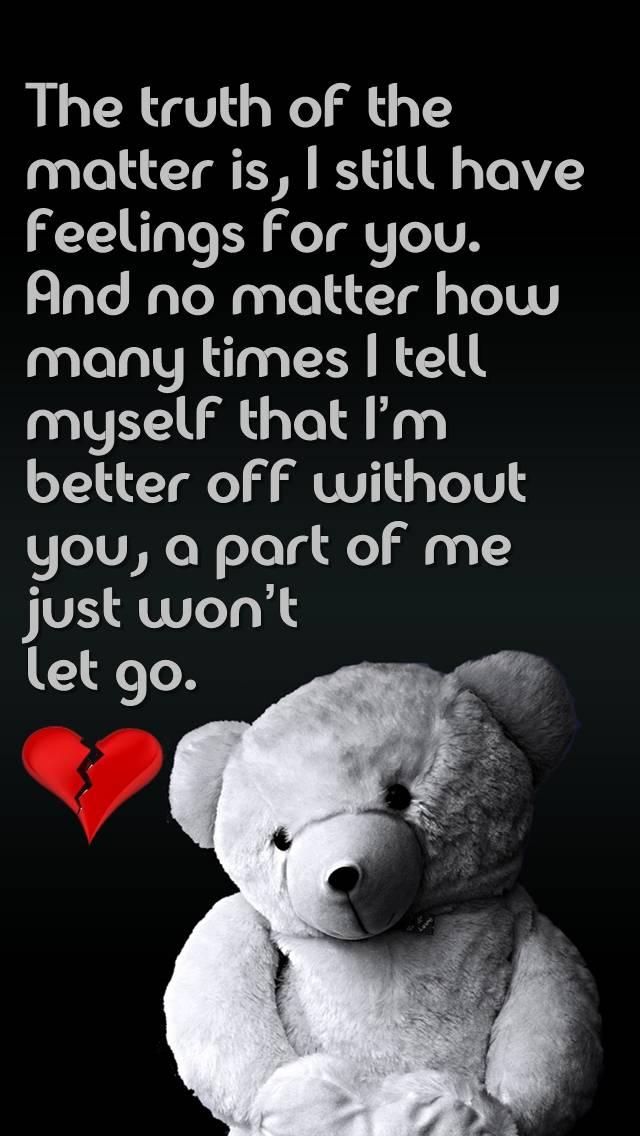 wont let go