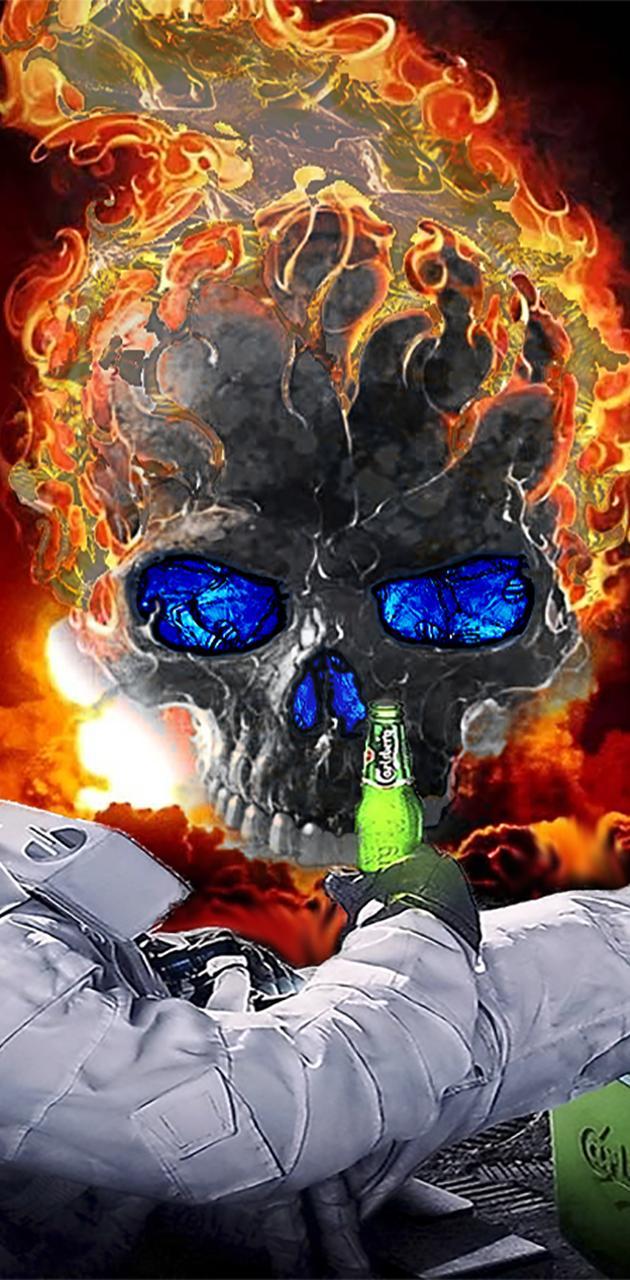 calavera y fuego s3