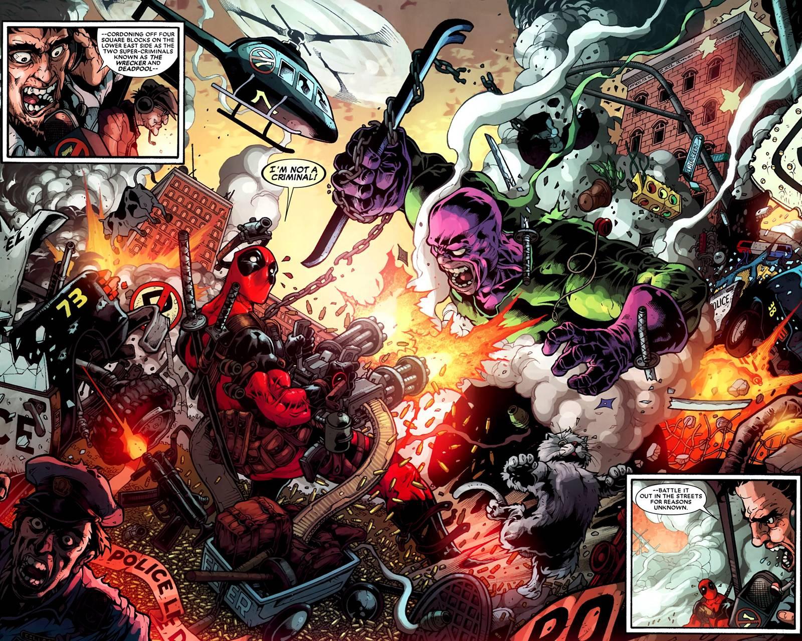 Deadpool Vs Wrecker