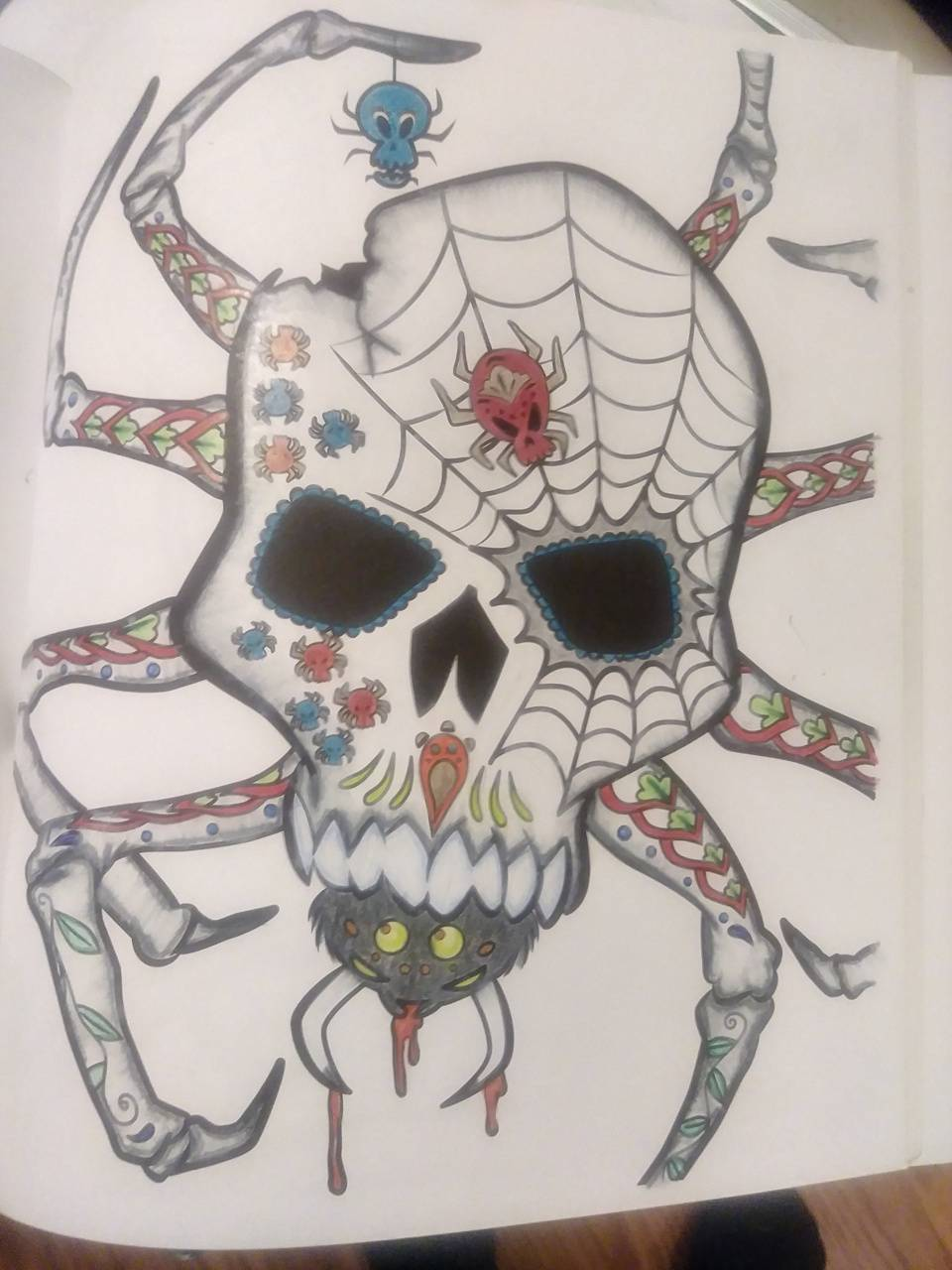 Spider sugar skull