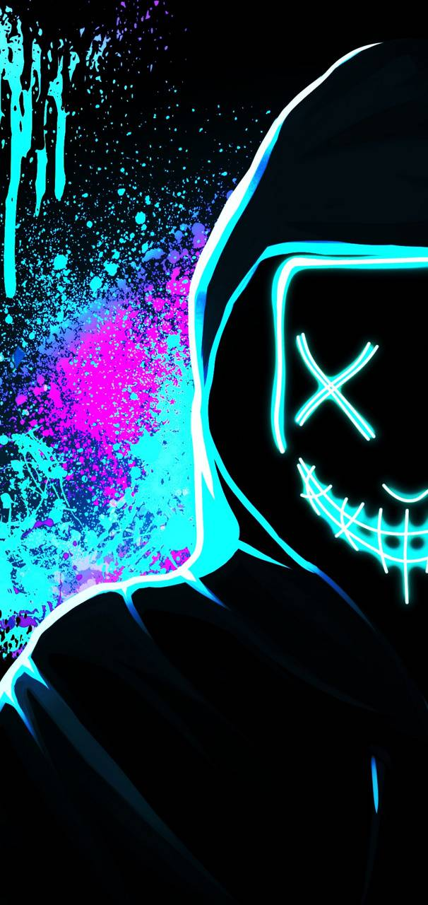 Neon Mask Wallpaper By Themune007 04 Free On Zedge