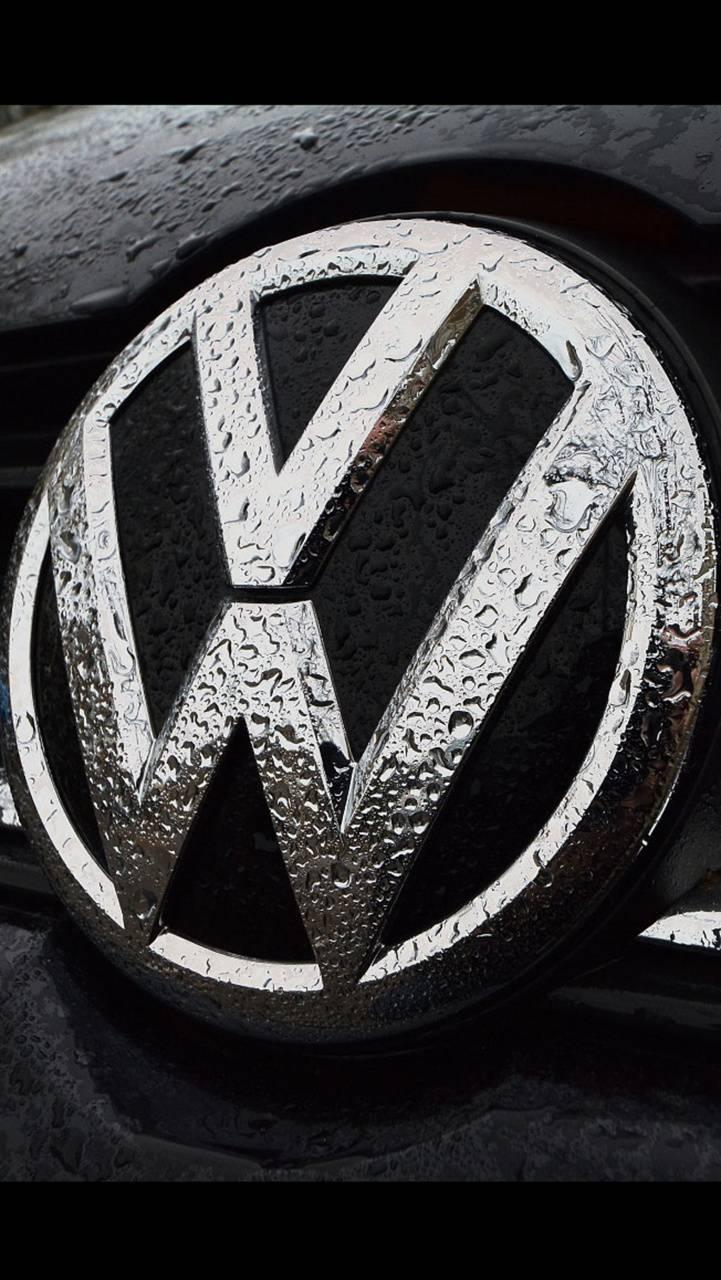VW logo water