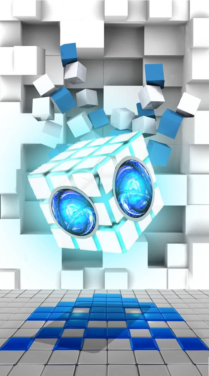 white cubes screen