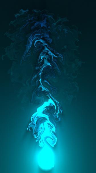 Blue neon glow