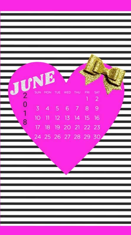 June Glitter Stripes
