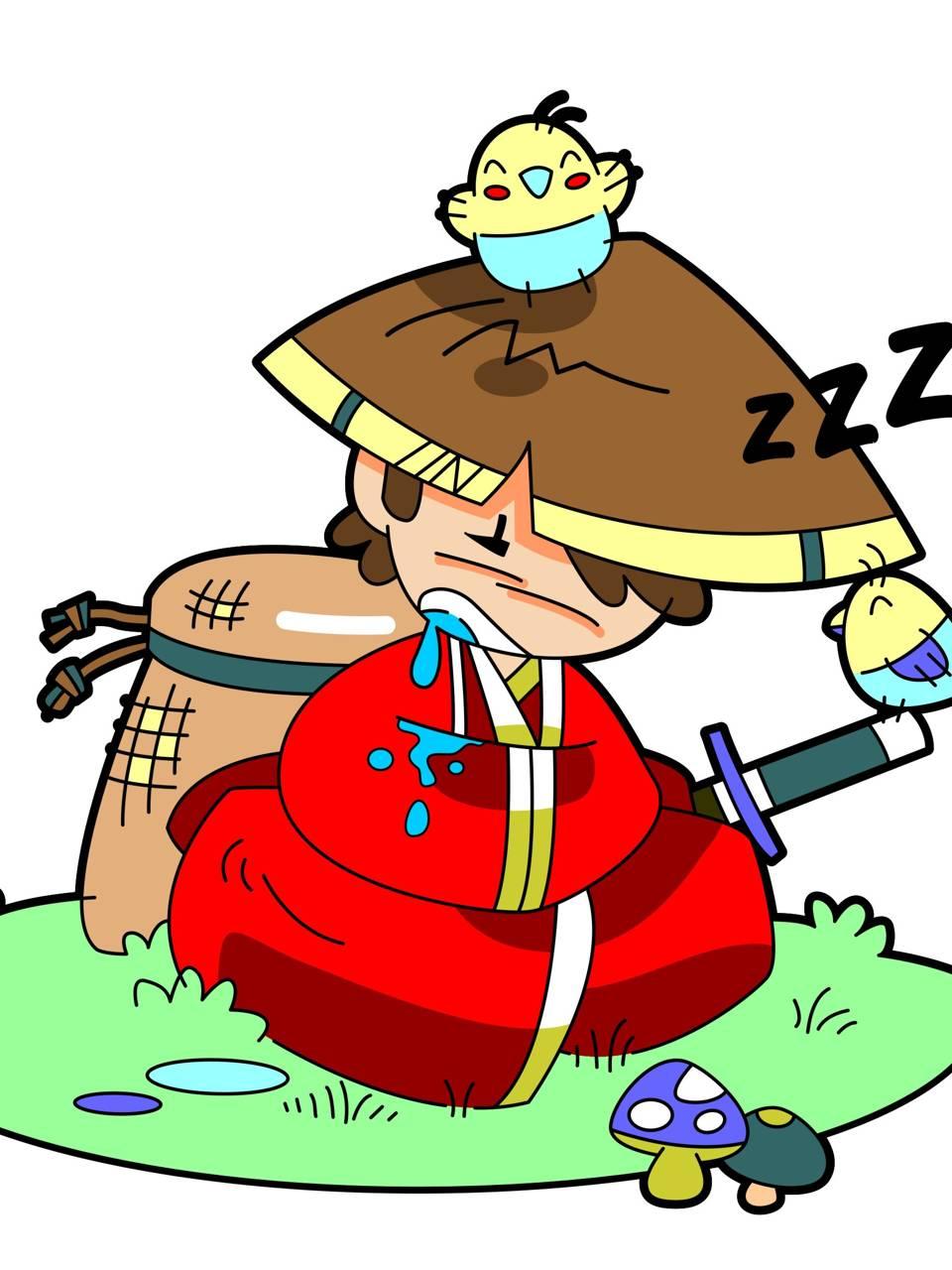 Sleepimg Samurai