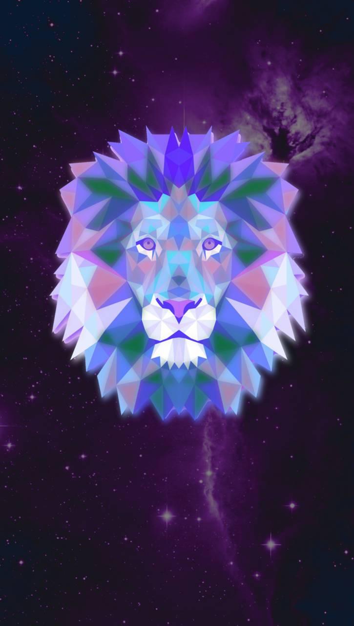Galaxy Lion Glow Wallpaper By HellcatSRT2k15