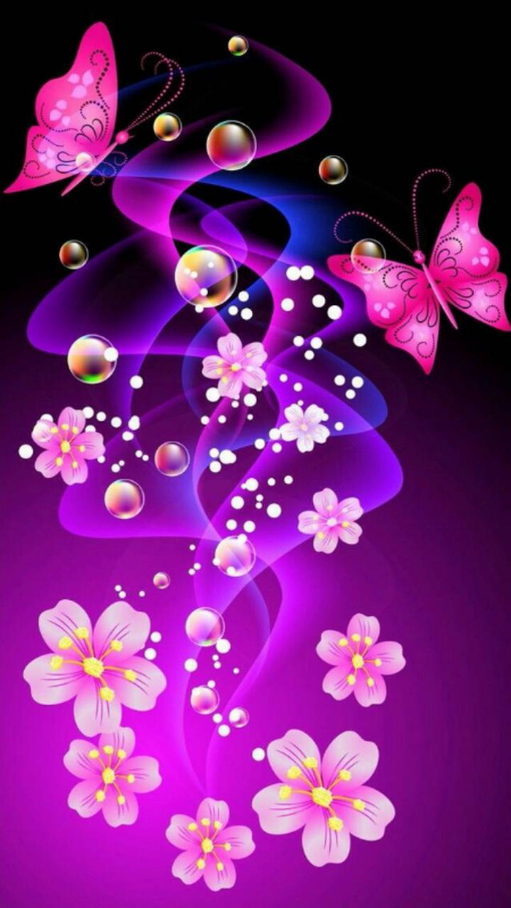pink butterflies wallpaper by kaeira - 2b - Free on ZEDGE™