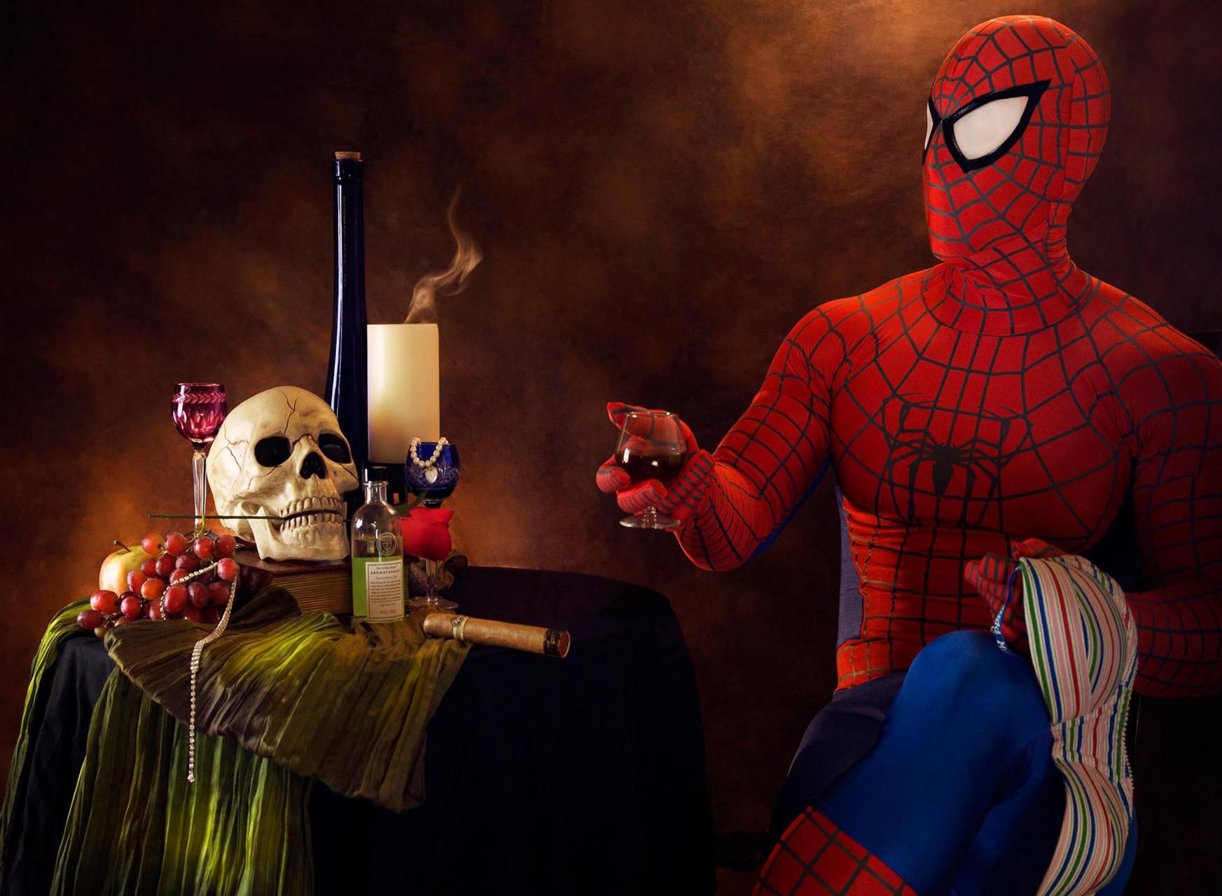 Spiderman N skull