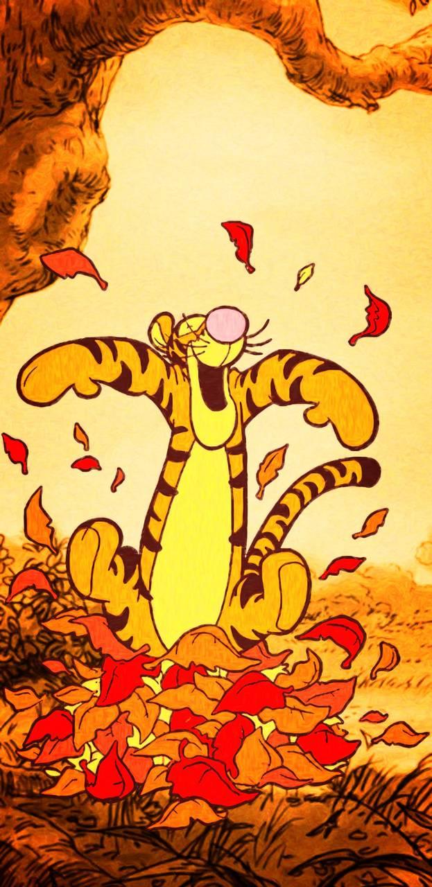 Tigger Fall Leaves