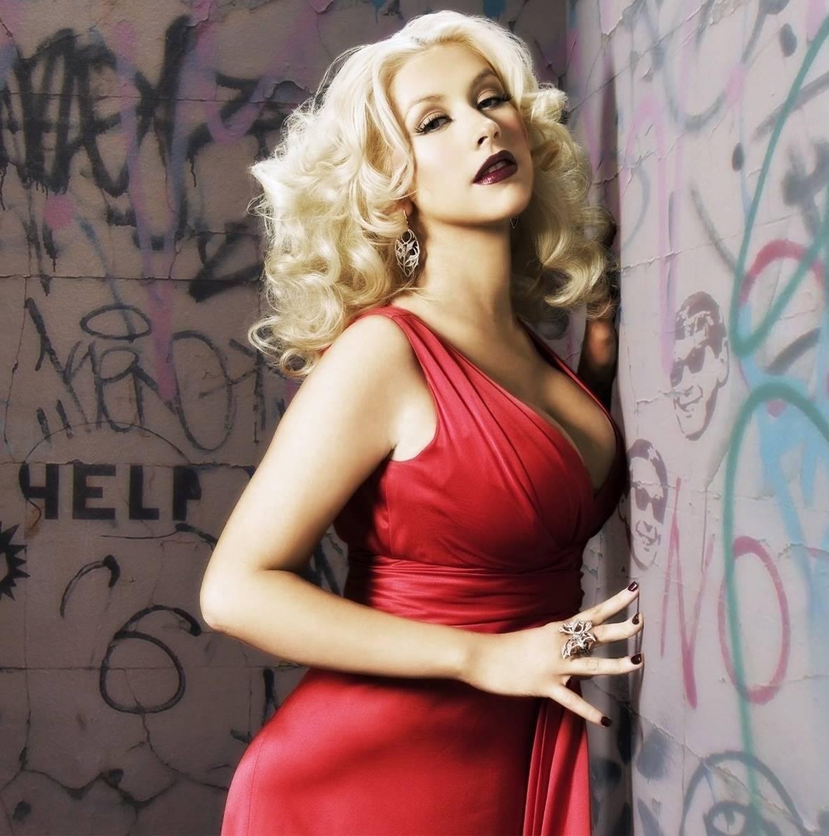 Christina in red