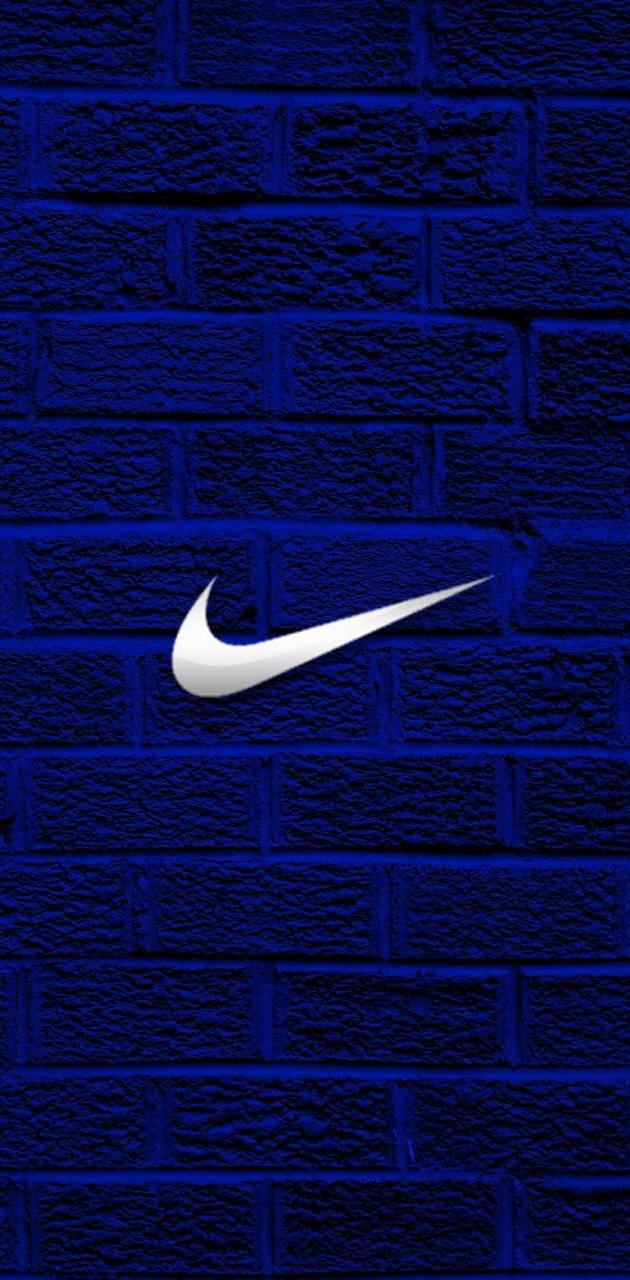 Swoosh brick wall