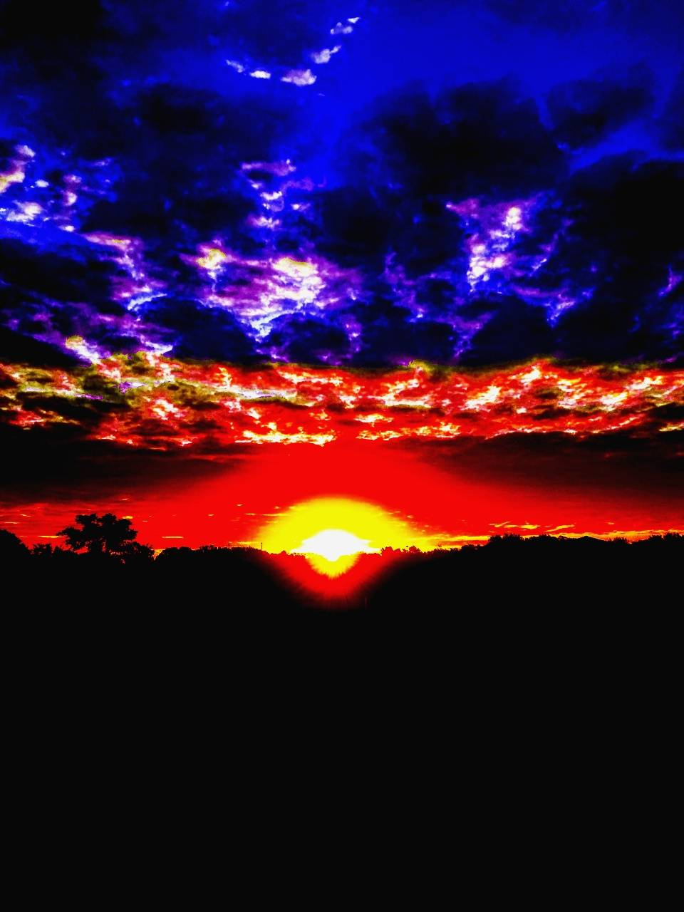 2 color sky