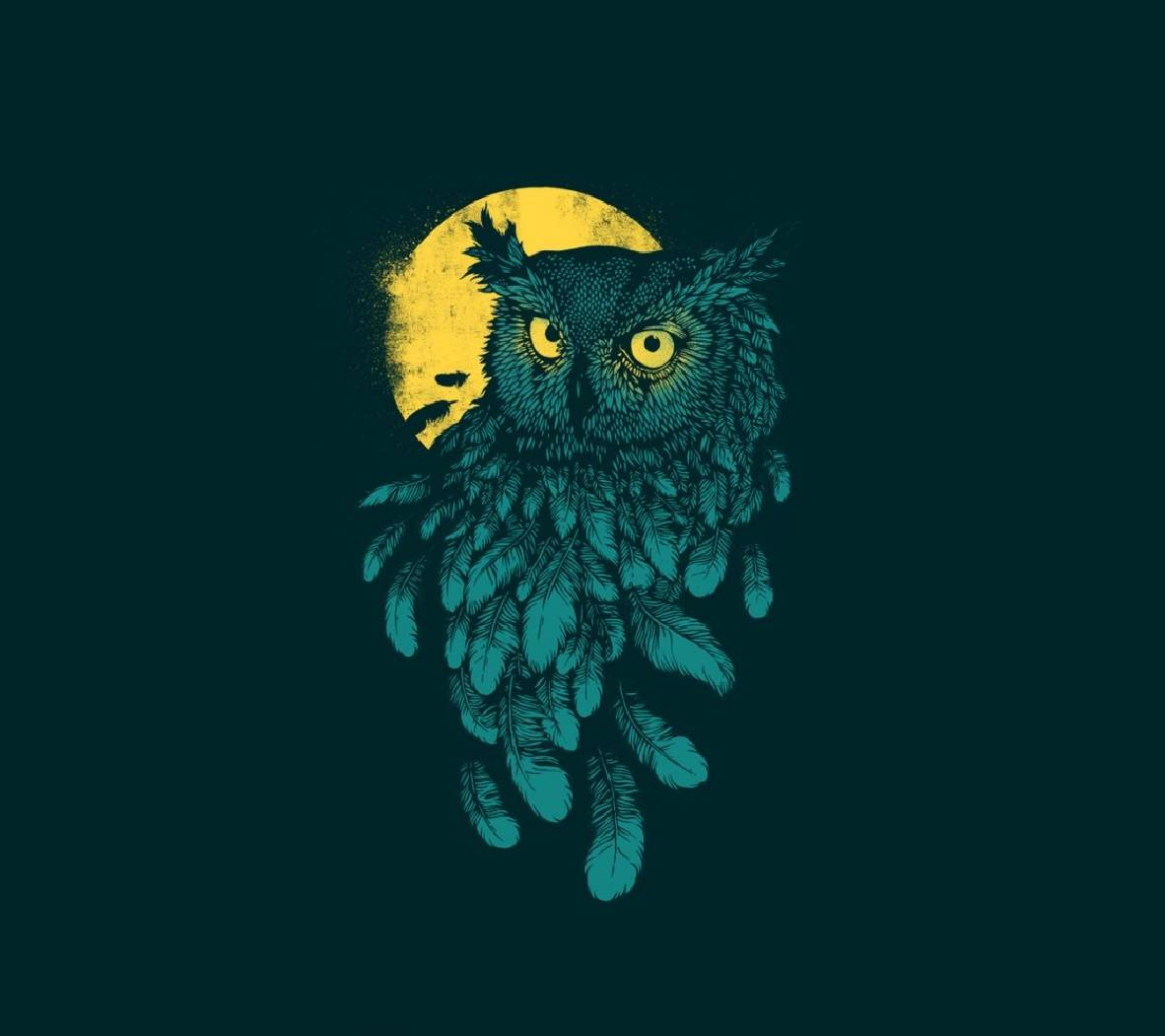 Free Owl Wallpapers: Owl And Moon Wallpaper By Agaaa_K