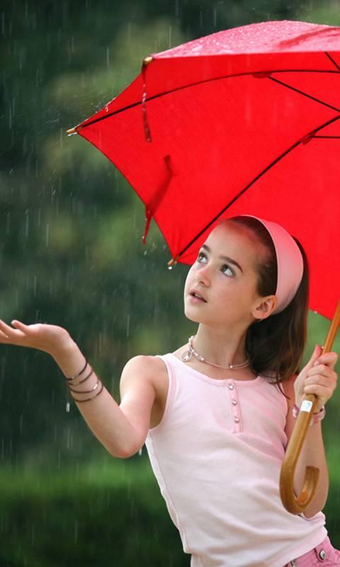 Little Girl In Rain
